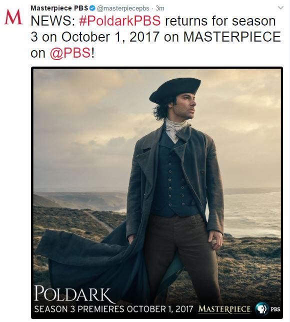Poldark S3 US air date