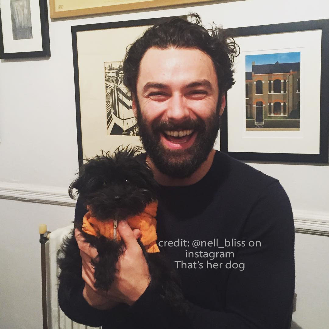 Aidan Turner with Dog