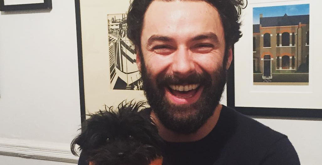 Aidan Turner Dog Featured