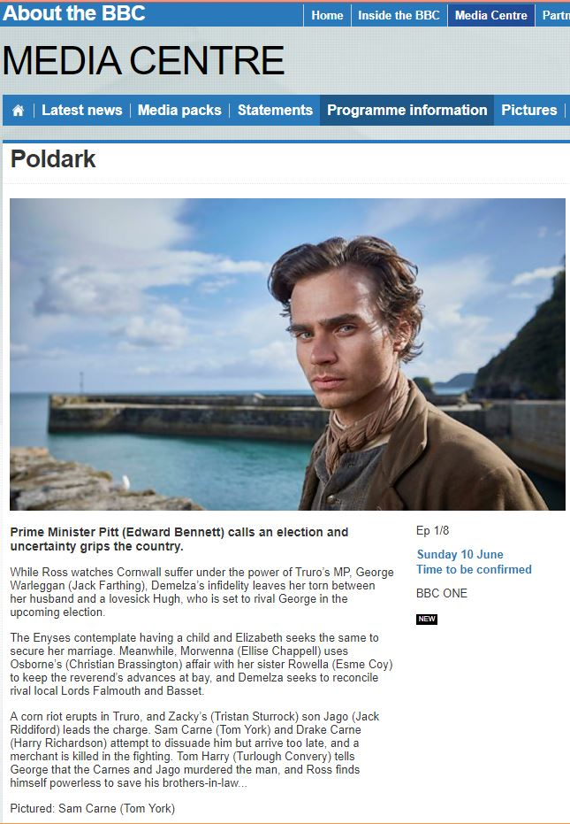 Poldark S4 Press Release