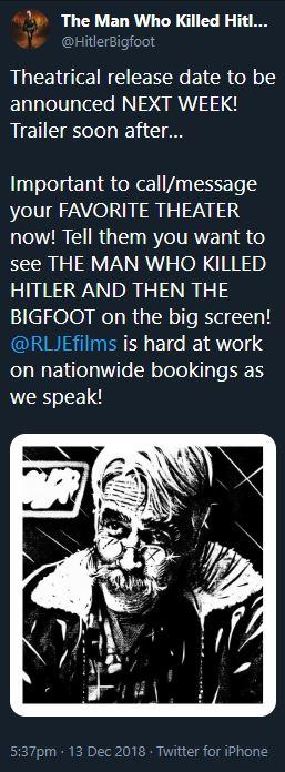 Hitler Bigfoot Release News