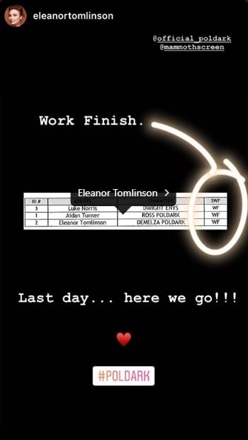 Eleanor Tomlinson Instagram