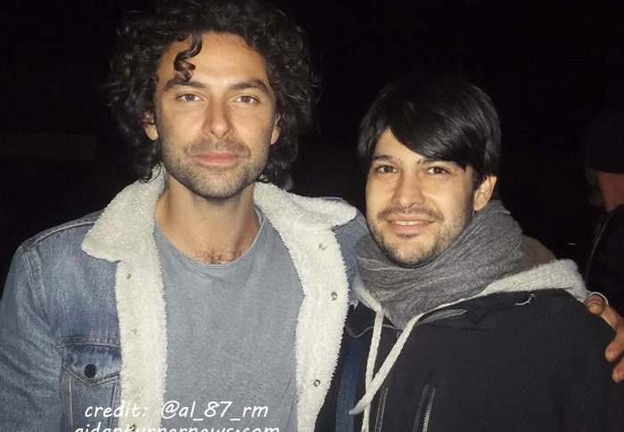 Aidan Turner out and about Italy