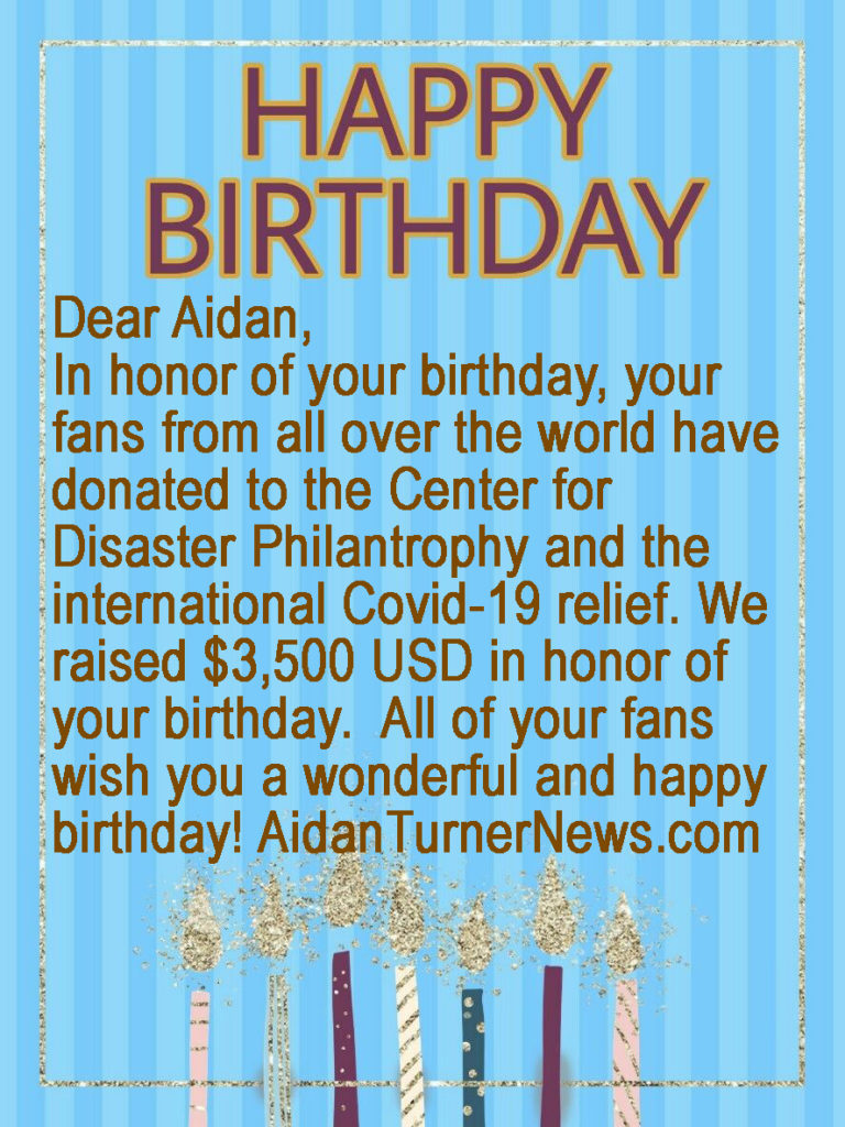 Aidan Turner Birthday Card